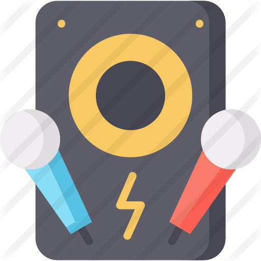 See more icon inspiration related to music and multimedia, karaoke, singing, singer, electronics, sing, audio, communications, speaker, microphone, technology and music on Flaticon.