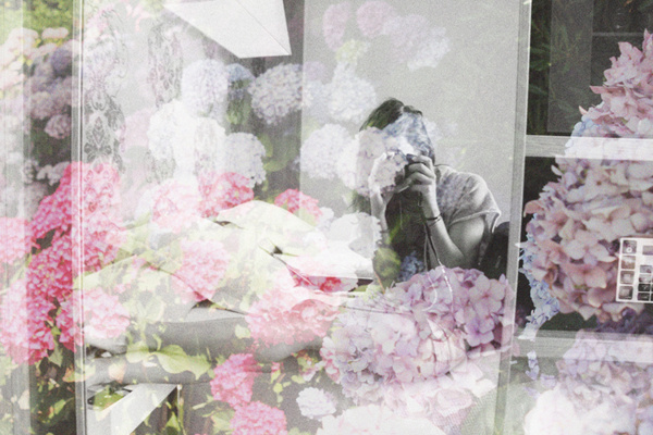Dear diary #pink #flowers #grey