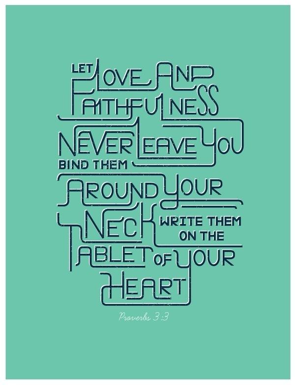 2/52: Proverbs 3:3 #vector #line #typography #texture #verse