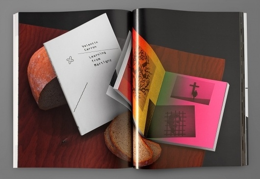 """manystuff.org — Graphic Design daily selection » Blog Archive » Most Beautiful Swiss Books """"The Future Issue"""" 2009 – 3-D Renderings #spread #swiss #book"""