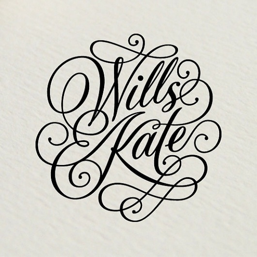Rob Clarke Typography #logo #wedding #royal