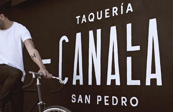 Canalla | Manifiesto Futura #branding #food #restaurant #wall #canalla #futura #manifiesto #tacos
