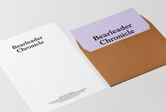 Bearleader by The Studio #graphic design #colourful #envelope #stationary #letterhead #typography