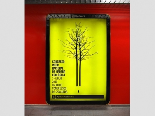 Congreso Madera #tree #yellow #advertising #wood #corporate #identity #poster #pen #logo #pencil