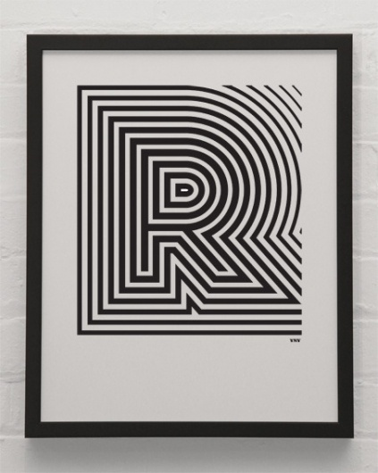 R.jpg (453×567) #font #white #pattern #lines #stripes #black #poster #and #type #typography