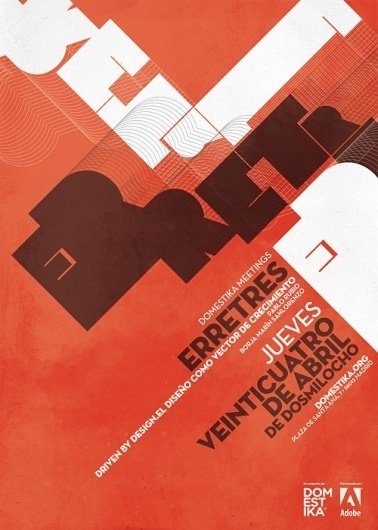 Domestika Meetings_Carteles 2008 on the Behance Network #grid #abstract #poster #typography