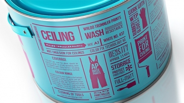 Reynolds and Reyner — Waldo Trommler Paints #modern #packaging #stacked #can #typography