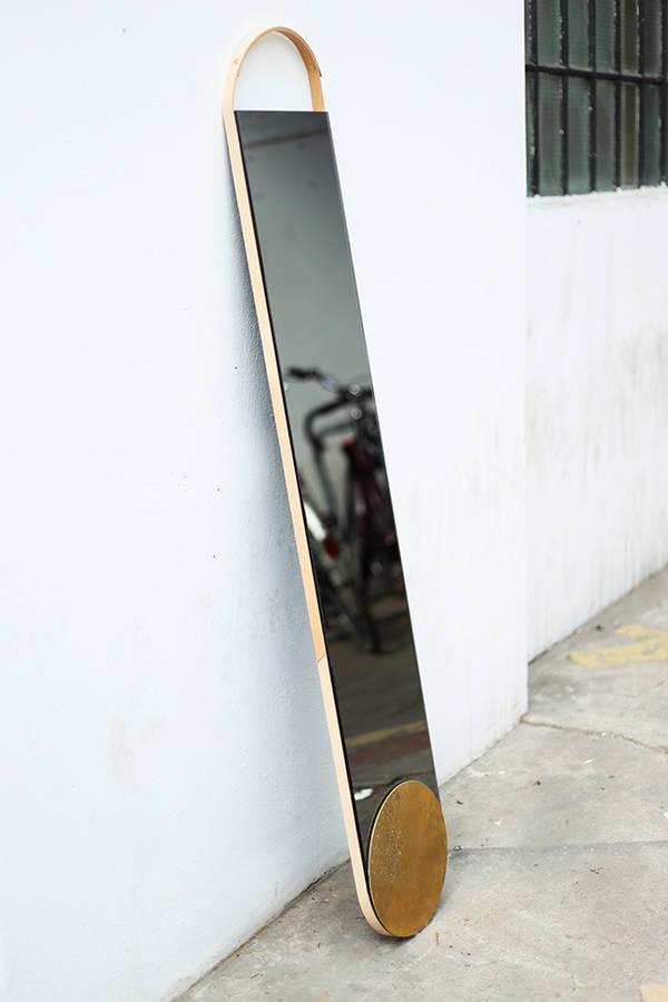 Leather&Brass Mirror