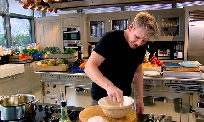 This is lit for video showing more BG than I would like but I want shots of RSJ doing general food prep.
