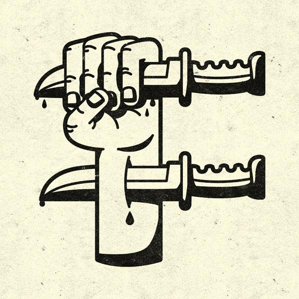 F.jpg #illustration #knife #hand