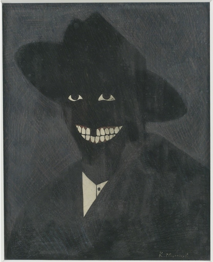 Kerry James Marshall, ' A Portrait of the Artist as a Shadow of His Former Self', 1980, MCA Chicago