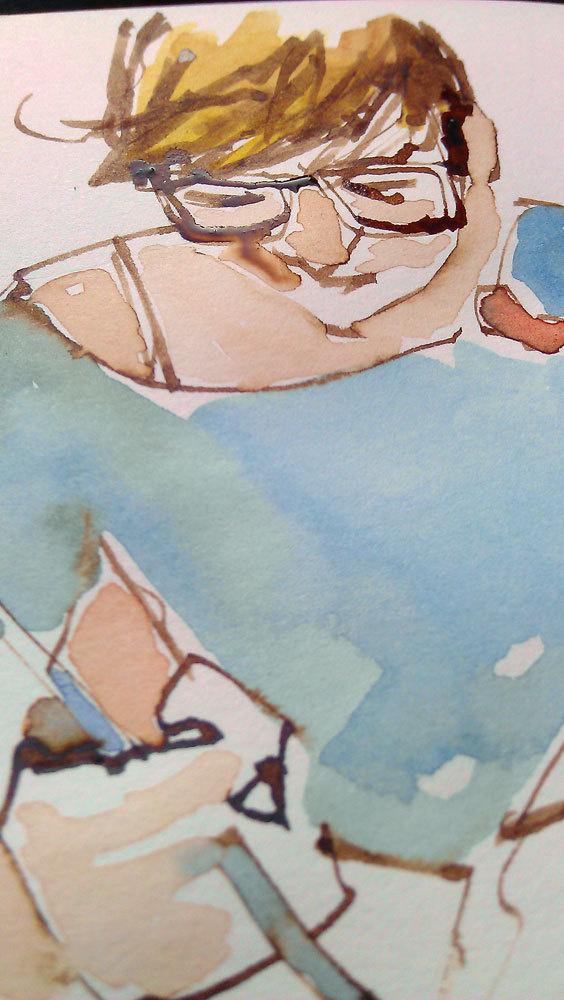 watercolor #watercolor #sketch #girl #sketchbook