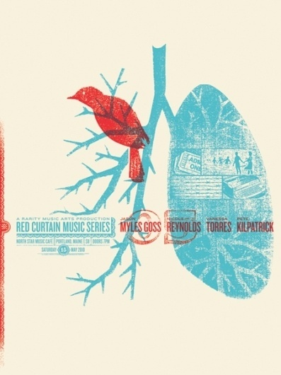 GigPosters.com - Jason Myles Goss - Nicole Reynolds - Vanessa Torres - Pete Kilpatrick #gig #print #warm #screen #illustration #poster