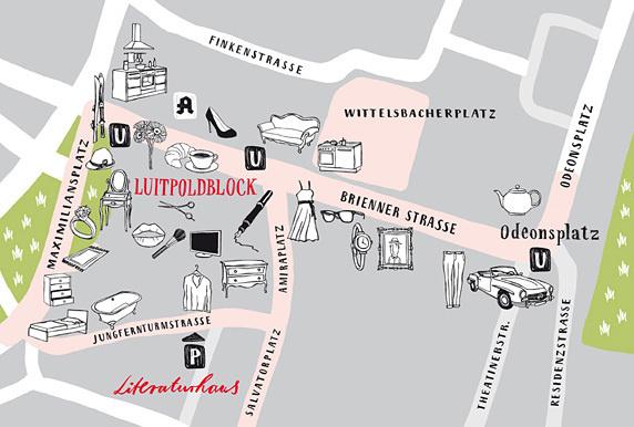 Lageplan Brienner Quartier #illustration #munich #map