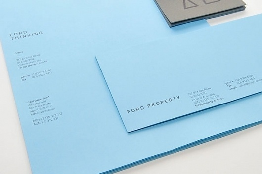 Eight Hour Day » Blog #modern #clean #envelope #collateral #blue #letterhead