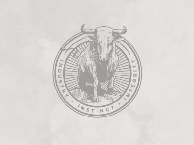Dribbble - Ted Perez + Associates - Bull Seal by Alex Rinker #badge #branding #emblem #seal #logo #letterhead #typography