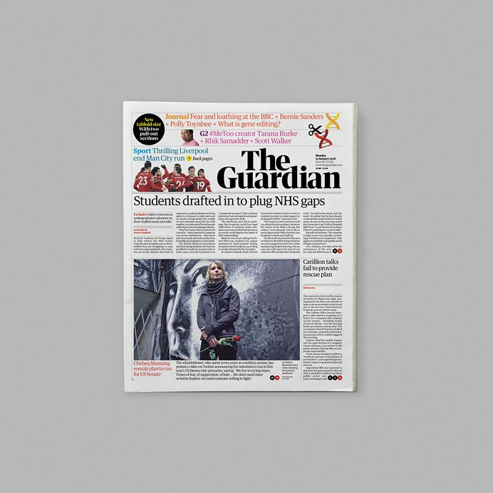 What the Guardian's tabloid format says about print today   Typeroom.eu