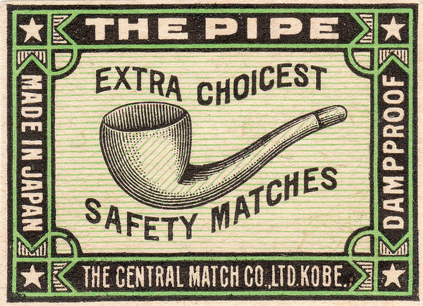 photo #match #advertising #illustration #pipe #vintage #tobacco #smoking #choicest #typography