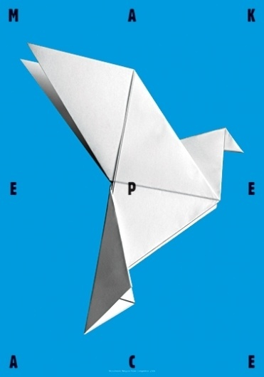 2+Tahamtan+Aminian-Pmake+peace+2006.jpg (378×540) #paper #bird #typography