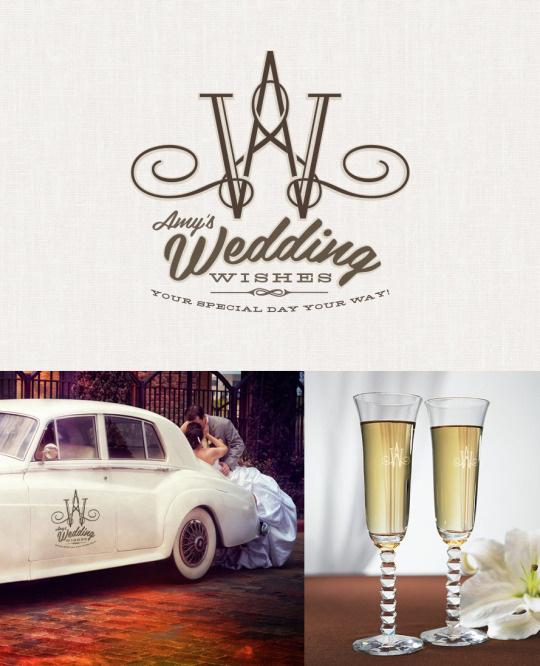 personal, logo, W, A, wedding, swirl, hand written,