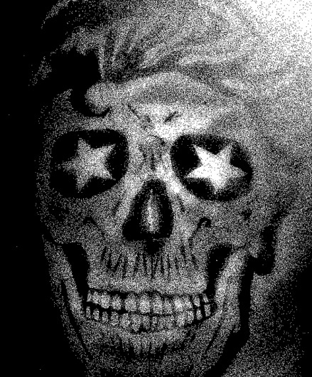 DISINTEGRATION on the Behance Network #draw #skull #black