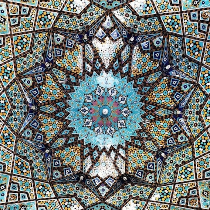 A Photographer Captures The Interior Details Of Iranian Mosque Ceilings
