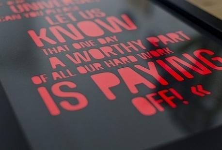stellavie | design manufaktur // Artwork: Dear Universe.. #limited #cut #edition #laser #typography