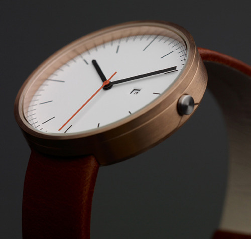 THE FRESH COLLECTIVE #simple #brown #leather #watch
