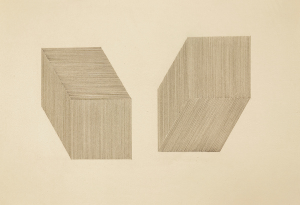 untitled (two cubic forms) | Flickr Photo Sharing! #graphite #drawing #minimal