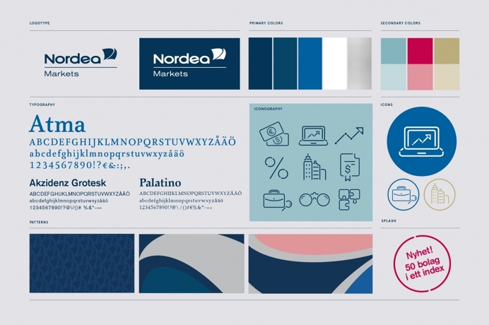 Identity for the leading investment bank in the Nordic and Baltic Sea Region. #snask #graphic design #graphic #design #branding #colorful #c