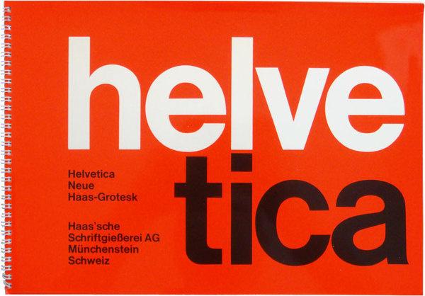 Helvetica / Neue Haas Grotesk specimen brochure cover #neue #helvetica #grotesk #haas #brochure
