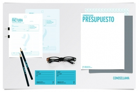 COMOSELLAMA on the Behance Network #glasses #cyan #identity #naming