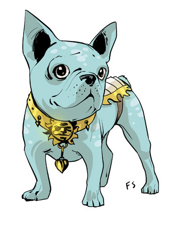 Lying French Bulldog the Saga fied version of our Italian publisher's mascot.http://www.baopublishing.it/ #fiona #staples