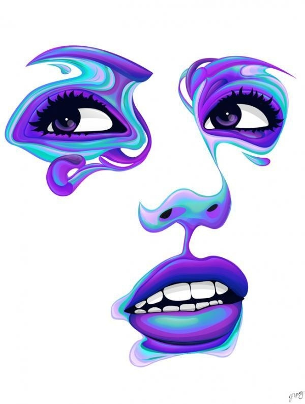 Vector Faces by Jeremy Young #young #jeremy #vector #faces