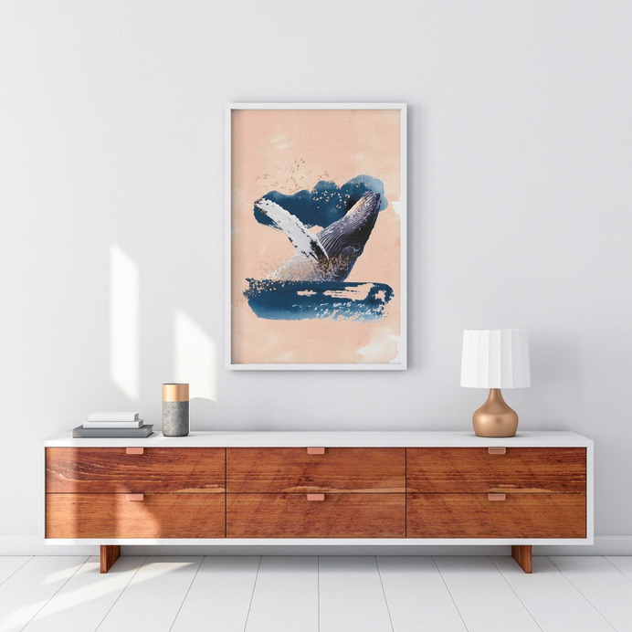 Whale Of A Time Printable | Etsy #collage #print #whale