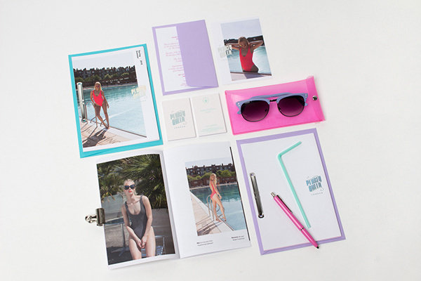 Pearly Queen London on Behance #invite #holographic #branding #invitation #business #card #look #book #swimwear #identity #stationery #passport #foil #neon