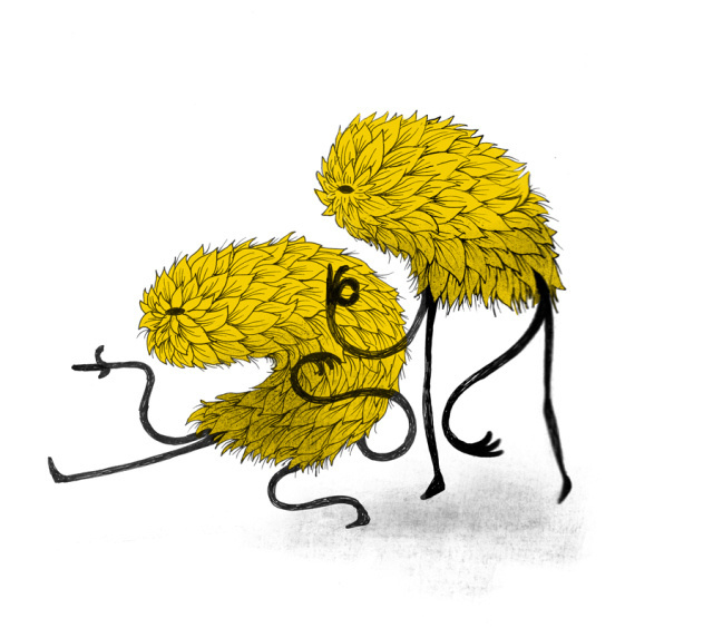 Walk this way ~ anditisgood.com Ryan Crane #eye #illustration #hairy #monster #characters #walk