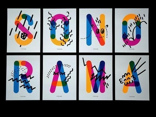 - sonorama : HELMO #illustration #typography
