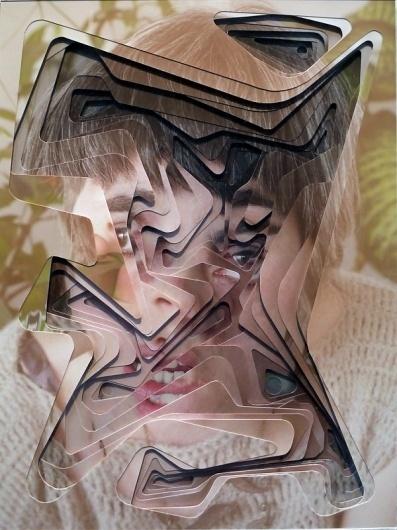 Lucas Simões | Colossal #cut #face #angle #paper