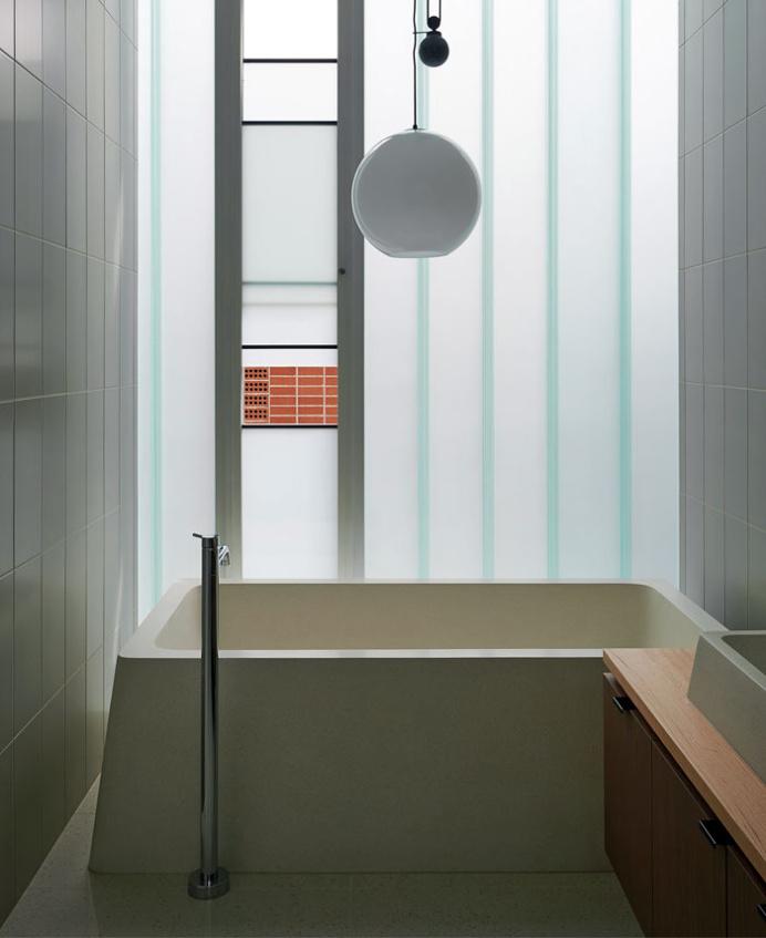 Brick House - #bath, #interior, #decor, home, bathroom