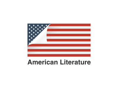 American Literature Logo #flag #literature #american #book #logo #usa