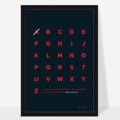 If Plan A didint work, there 25 more letters in the alphabet. Keep going. #typography #poster #artprint #alphabet #minimalist #letternote #s