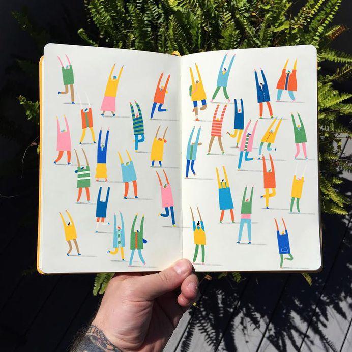 Starting trends 🌿All coloured and mocked up Happy Monday ☀️ . . . . #art #artwork #artist #bestoftheday #book #books #creative #design #graphicdesignblg #graphicdesignblg #happy #instagood #instalike #instagram #instadaily #illustration #illustree #illustrator #illustrationartists #like #melbourne #markconlan #print #picame #sketch #sketchbook