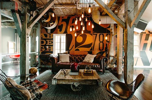 Mattson Creative Office SND CYN   Miss Design #interior #loft #bookshelves #workplace #office #design #coworking #workspace