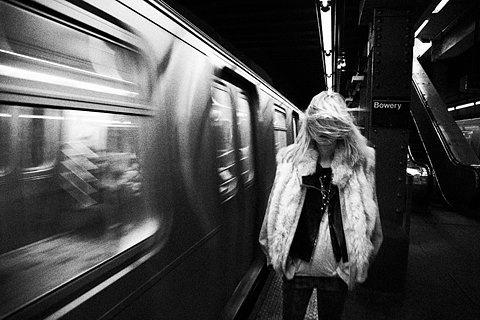 Claustrophobically Agoraphobic #white #black #subway #photography #and