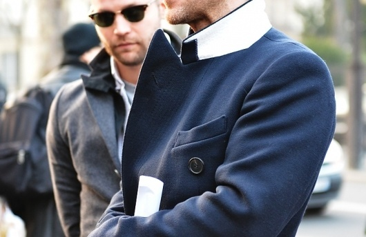 JAK & JIL #collar #blazer #style #navy