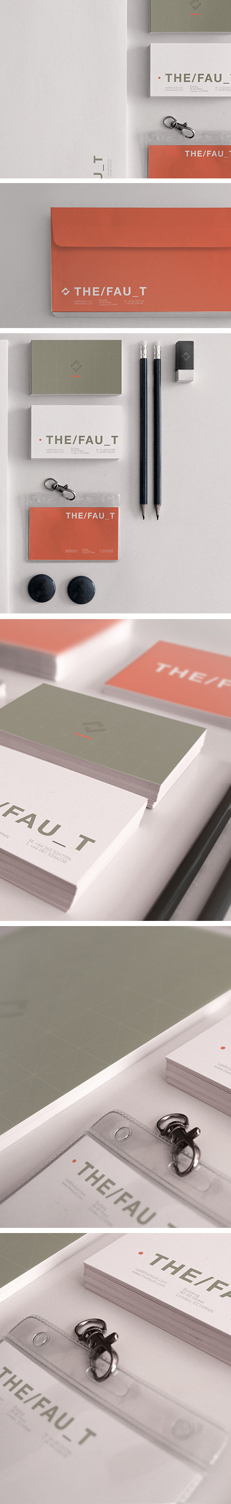 THE/FAU_T #agency #red #business #card #design #graphic #the #corporate #identity #idea #andrea #work