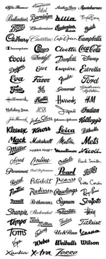 Typeverything.com @typeverything - Script logos. - Typeverything #lettering #logos #wordmarks