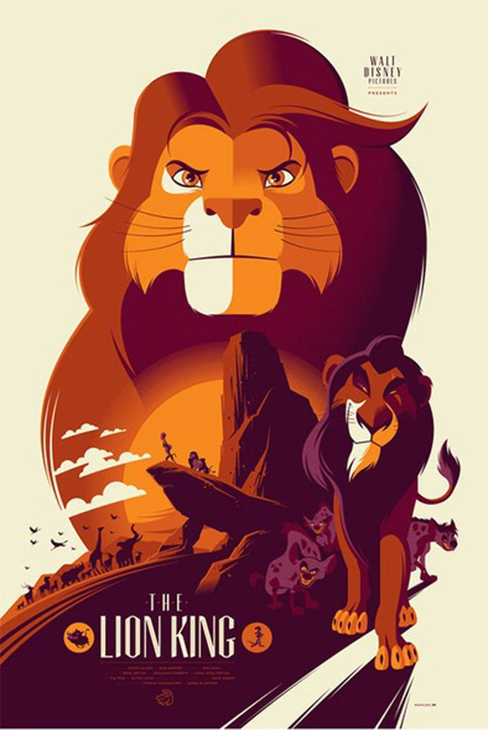 Reinvented Disney posters by Mondo-The Lion King #illustrator #poster