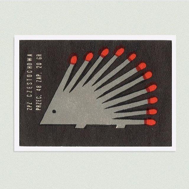 Hedgehog Matches. (Poland 1960) #tbt